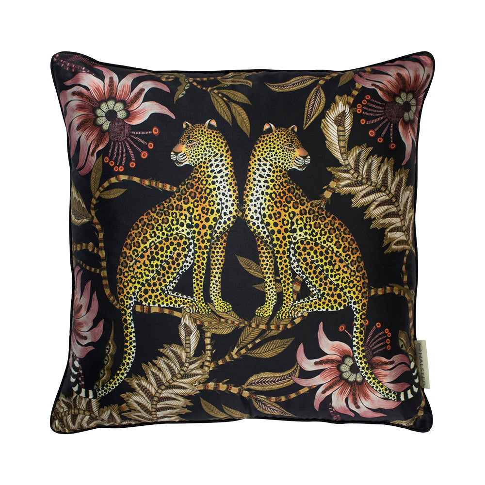 Lovebird Leopard Night Cushion Cover