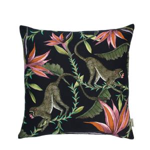 Monkey Paradise Night Cushion Cover