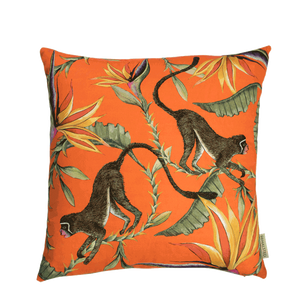 Monkey Paradise Flame Cushion Cover
