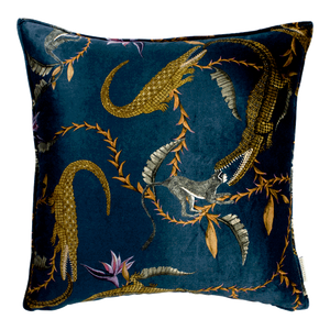River Chase Royal Velvet Cushion Cover