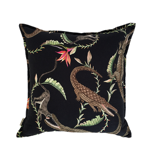 River Chase Night Linen Cushion Cover