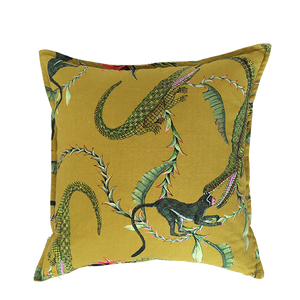 River Chase Swamp Linen Cushion Cover