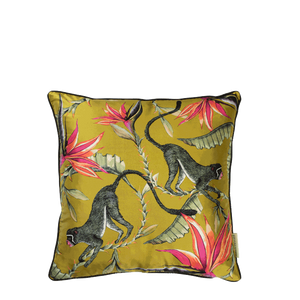Monkey Paradise Swamp Silk Cushion Cover