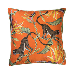 Monkey Paradise Flame Silk Cushion Cover
