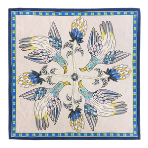 Bird Crossing Napkins Tanzanite (pair)