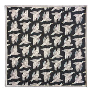 Bird Repeat Napkins Charcoal (pair)