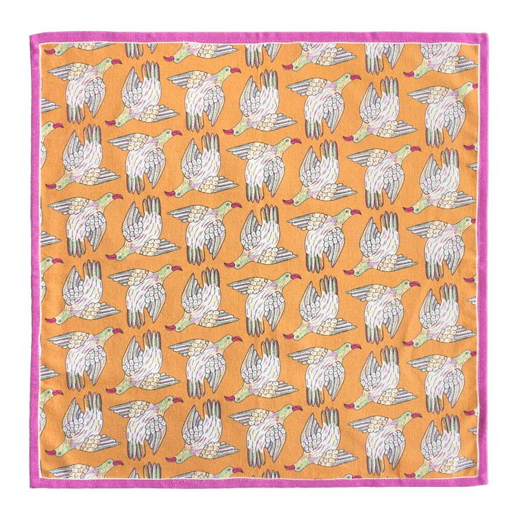 Bird Repeat Napkins Kingfisher (pair)