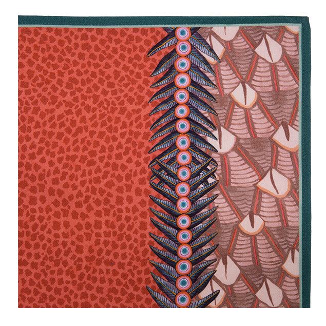 Feather Napkins in Coral (pair)