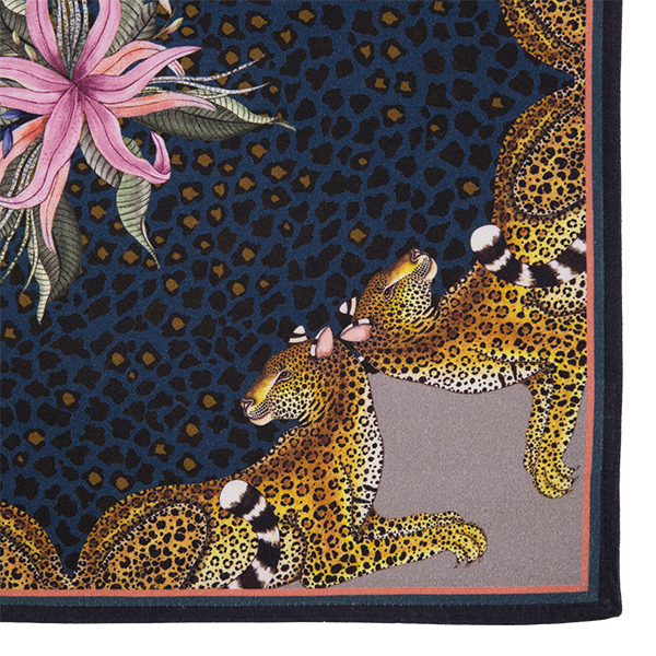 Leopard Lily Napkins in Starry Night (pair)