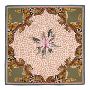 Leopard Lily Napkins in Stone (pair)