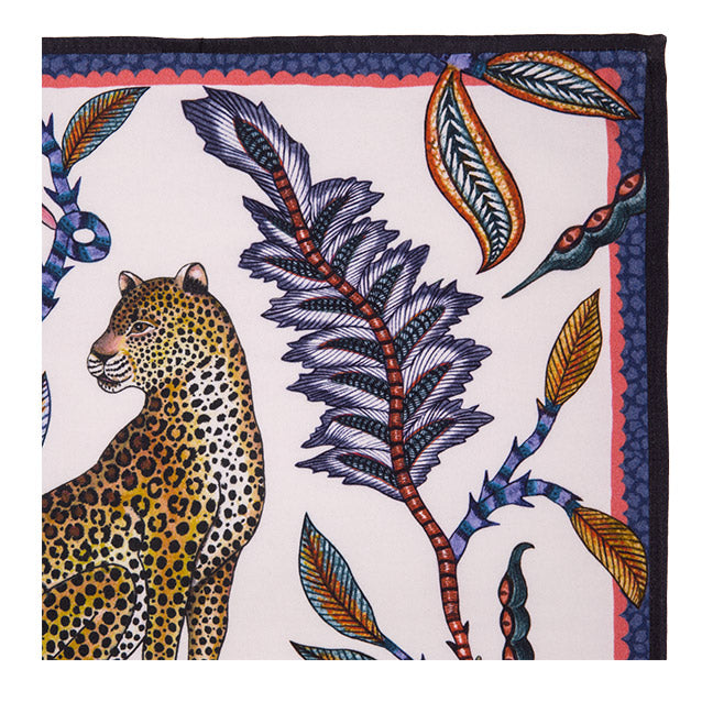 Leopard Napkins in Frost (pair)