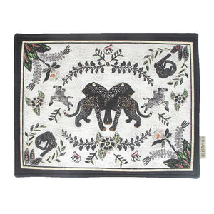 Royal Leopard Placemats Charcoal (pair)