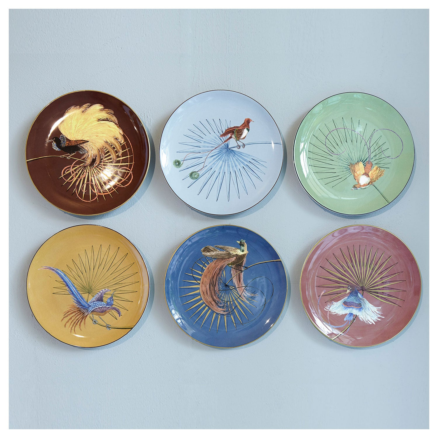 Birds of Paradise Green Dinner Plate (25cm)
