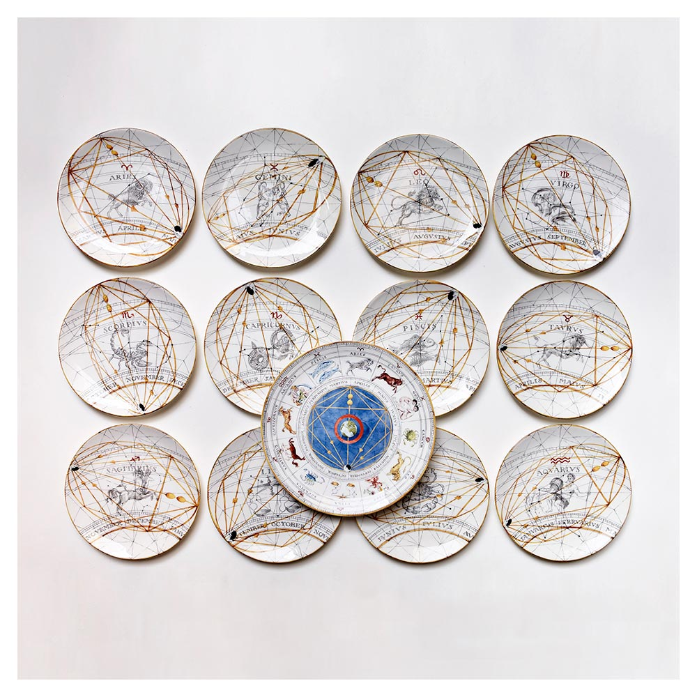 Zodiac Aries Dinner Plate (25cm)