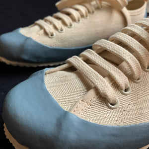 MARINE TYPE 2 DECK SHOE LTD EDITION HERRINGBONE ECRU / NORDIC BLUE