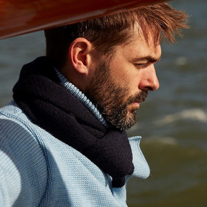 ENGINEER SCARF - NAVY/SKY BLUE