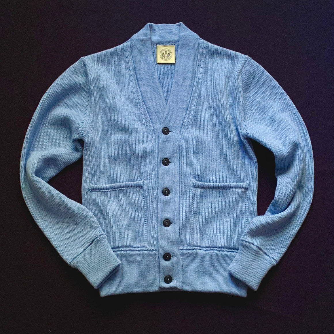 NEW - THE ENGINEER CARDIGAN - LTD EDITION SKY BLUE