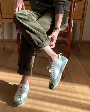 MARINE TYPE 2 DECK SHOE ECRU/OLIVE NORTH SEA CLOTHING x ABKN