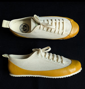 MARINE TYPE 2 DECK SHOE LTD EDITION HERRINGBONE ECRU/YELLOW