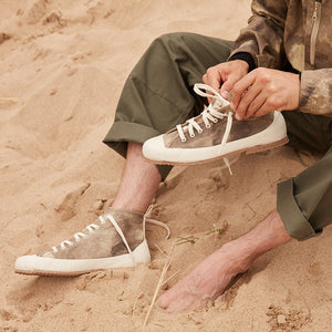 North Sea Clothing camouflage canvas and rubber hi top shoes
