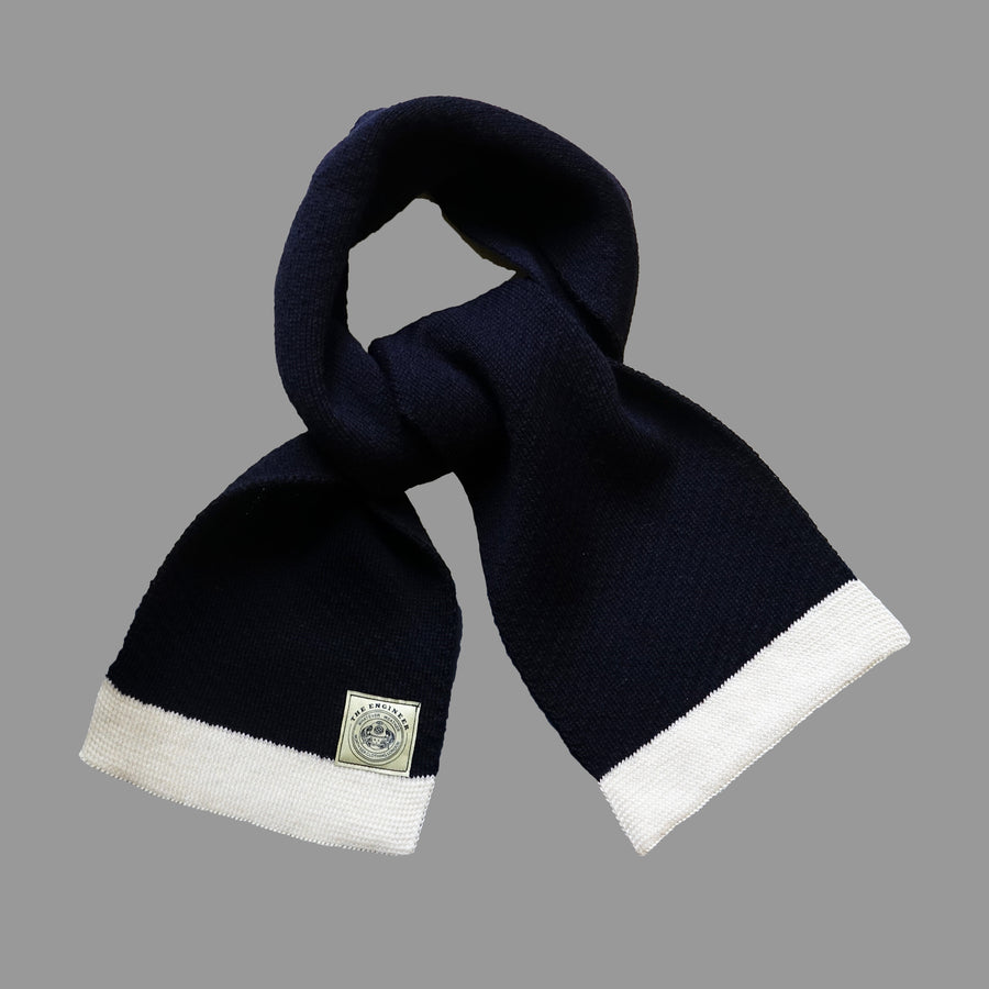 ENGINEER SCARF - NAVY/ECRU