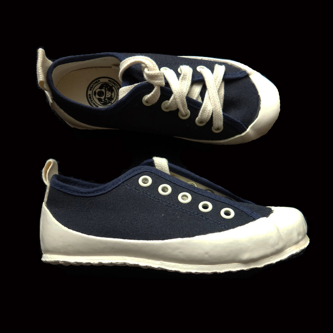 KIDS MARINE DECK SHOE - NAVY/ECRU