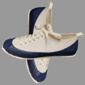 MARINE TYPE 2 DECK SHOE ECRU/BLUE