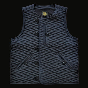 BODY WARMER TYPE 2 - NAVY WAXED COTTON