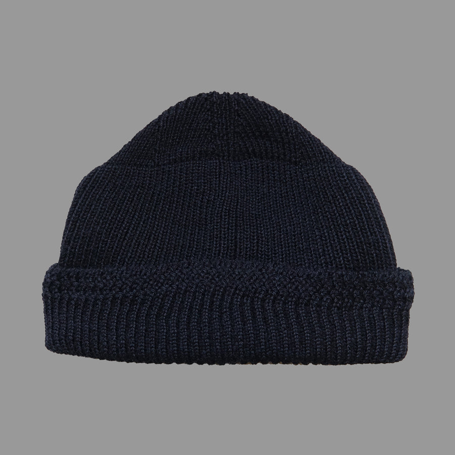 North Sea Clothing black wool deck hat