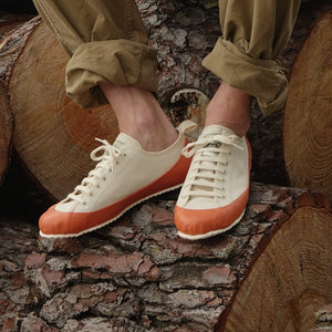 MARINE TYPE 2 DECK SHOE ECRU/ORANGE