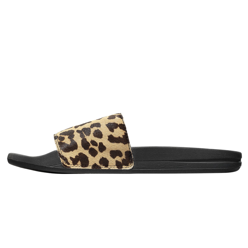 Women's Iconic Calf Hair Slide Leopard / Black