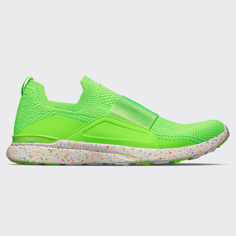Women's TechLoom Bliss Neon Green / White / Speckle