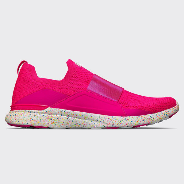 Women's TechLoom Bliss Neon Pink / White / Speckle