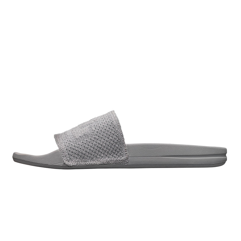 Men's Big Logo TechLoom Slide Metallic Silver