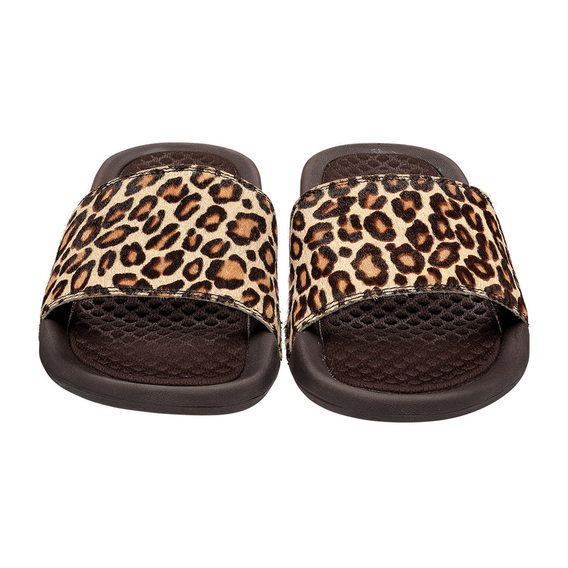 Women's Iconic Calf Hair Slide Cheetah