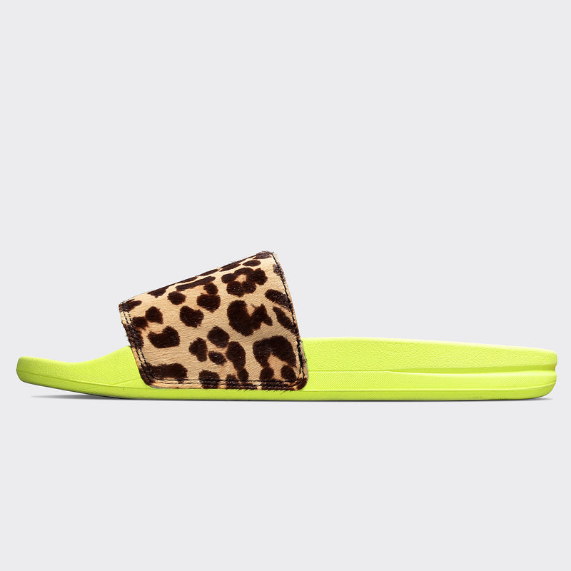 Women's Iconic Calf Hair Slide Energy / Leopard