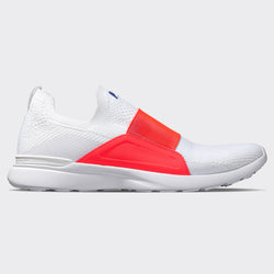 Men's TechLoom Bliss White / Impulse Red / Blue Haze