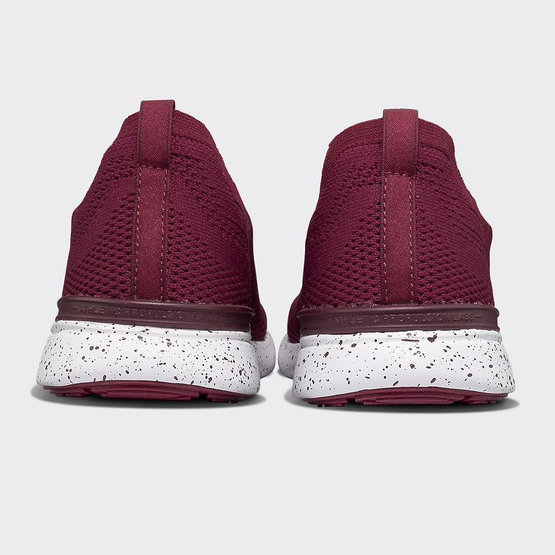 Men's TechLoom Breeze Burgundy / White / Speckle