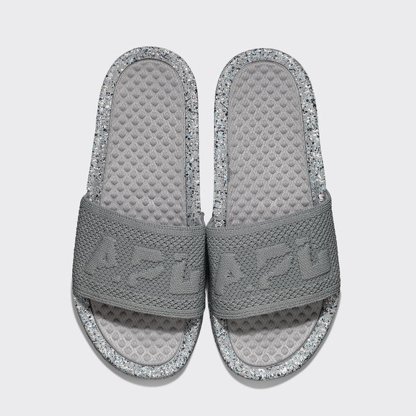 Women's Big Logo TechLoom Slide Cement / Chalk / Raindrop