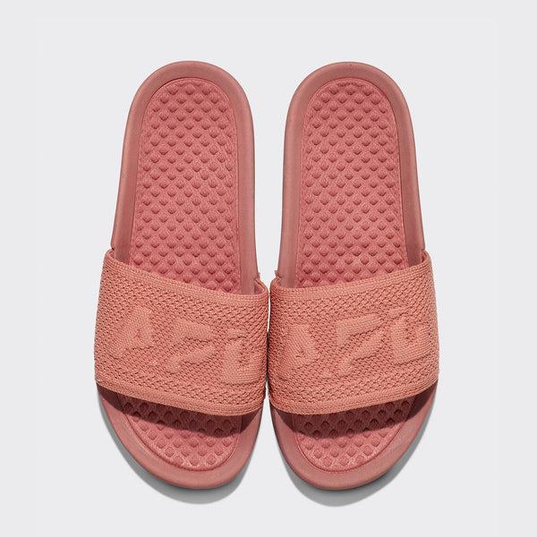 Women's Big Logo TechLoom Slide Dusty Red