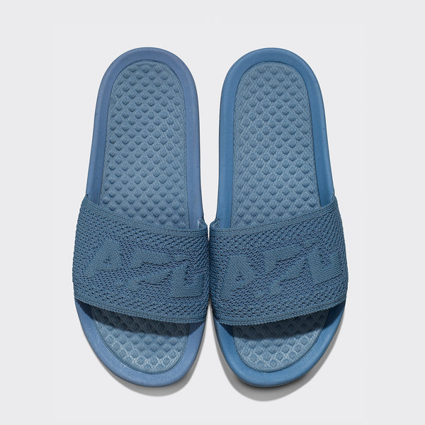 Women's Big Logo TechLoom Slide Grey Denim