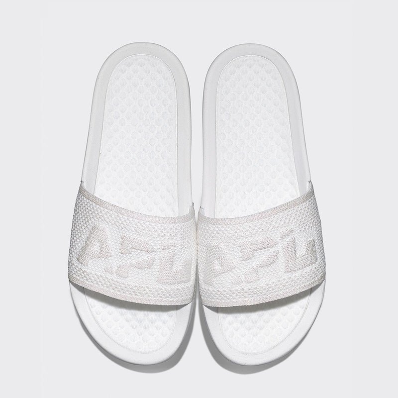 Women's Big Logo TechLoom Slide Metallic Pearl / White
