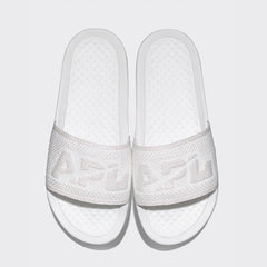 Men's Big Logo TechLoom Slide Metallic Pearl / White