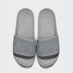 Women's Big Logo TechLoom Slide Metallic Silver