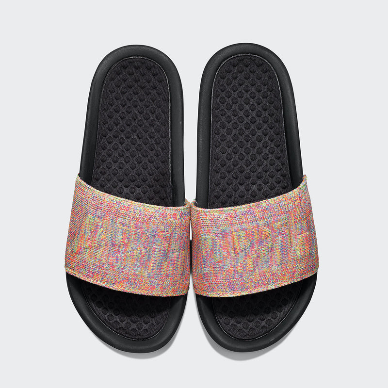 Women's Big Logo TechLoom Slide Multi  /  Black