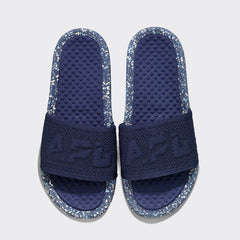 Women's Big Logo TechLoom Slide Navy / Pristine / Blue Oxide