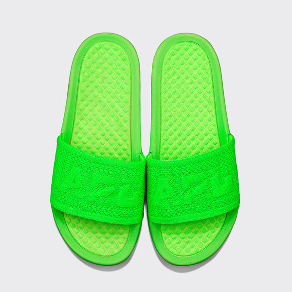 Women's Big Logo TechLoom Slide Neon Green