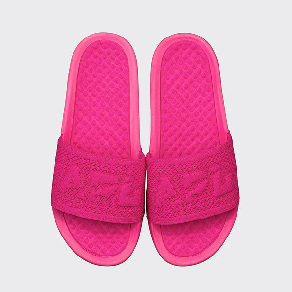 Women's Big Logo TechLoom Slide Neon Pink