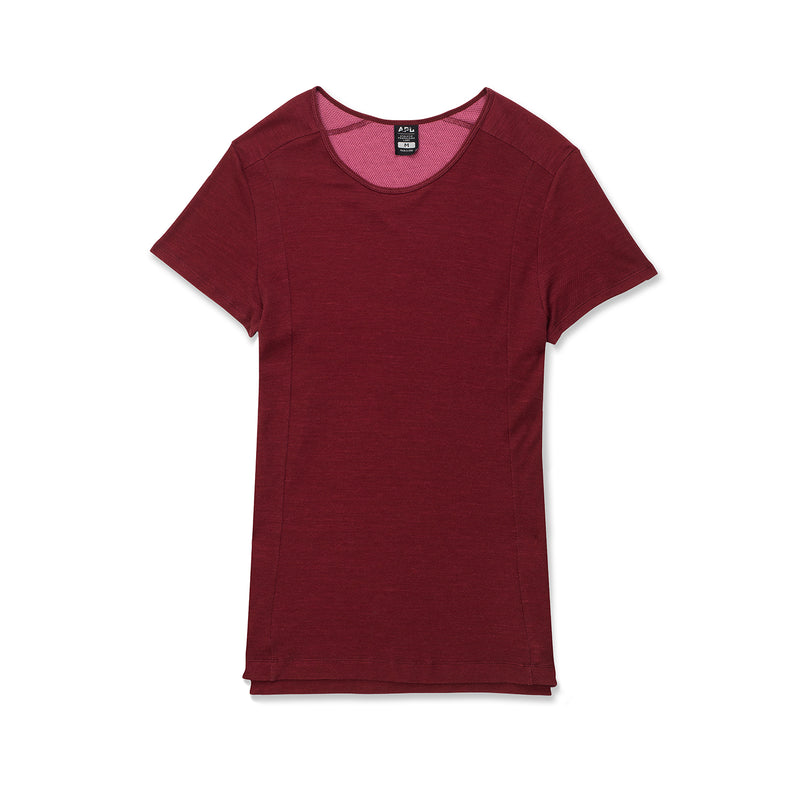 Men's The Perfect Wool Blended Tee Burgundy