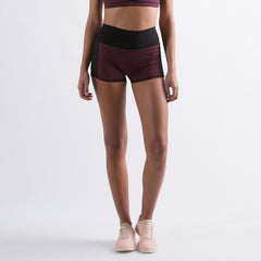 Women's The Perfect Spandex Shorts Burgundy / Black
